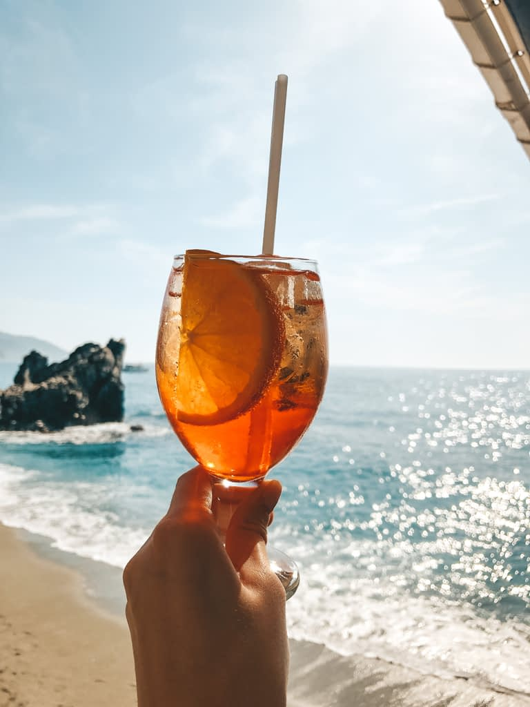 Aperol Spritz - What to Eat in Cinque Terre - Travel by Brit