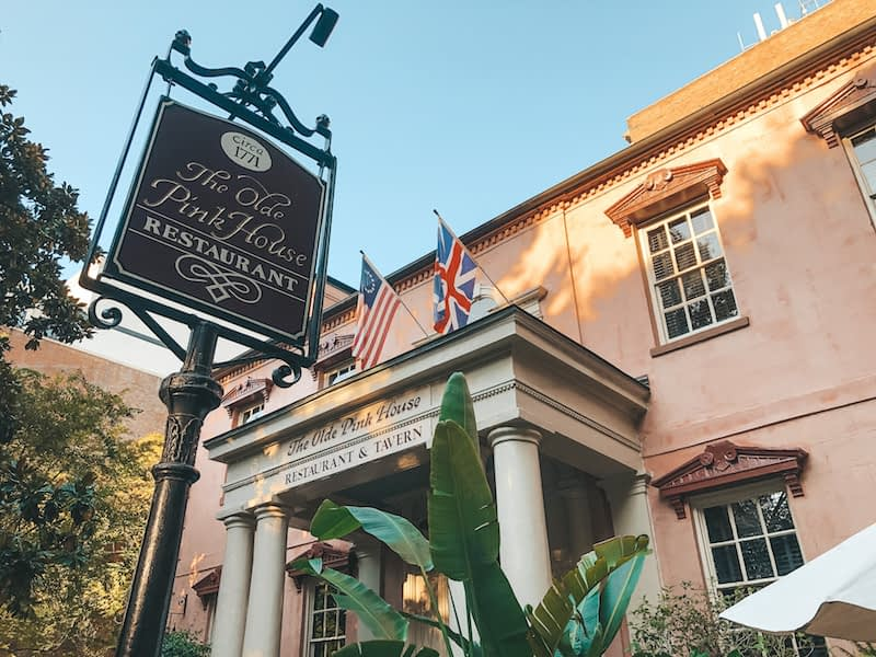 The Olde Pink House - Haunted Savannah Locations - Travel by Brit