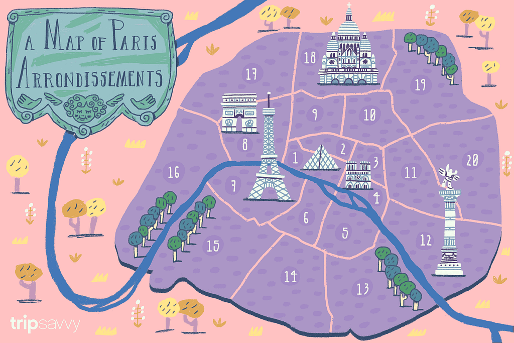 Map of Paris: Photo Credit to TripSaavy